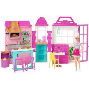 Barbie- Playset Il Ristorante con bambola HBB91