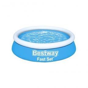 Bestway Piscina Fuori Terra Fast Set Gonfiabile Rotonda 940L Blu 183x51cm 57392