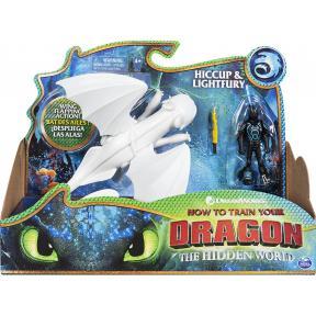Dragons 6052266 Hiccup e Furia Chiara - Drago con Vichingo